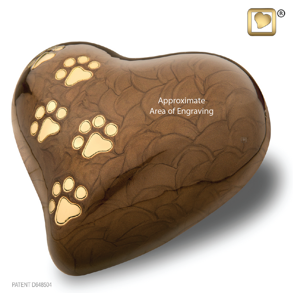 LovePaws™ Pearlescent Bronze (Large Heart) - P639L