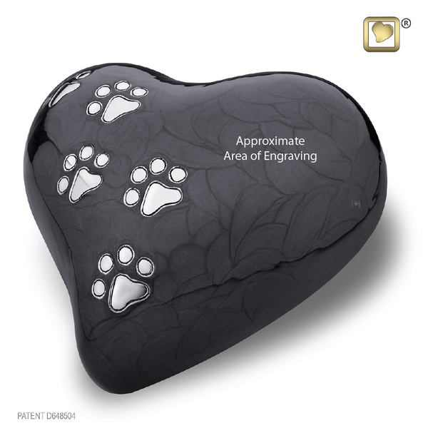 LovePaws™ Pearlescent Midnight (Large Heart) - P640L
