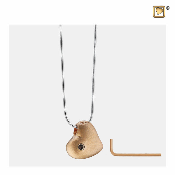 Pendant: Leaning Heart - Gold Vermeil Two Tone - PD1001