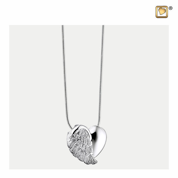 Pendant: LoveWings - Rhodium Plated - PD1004