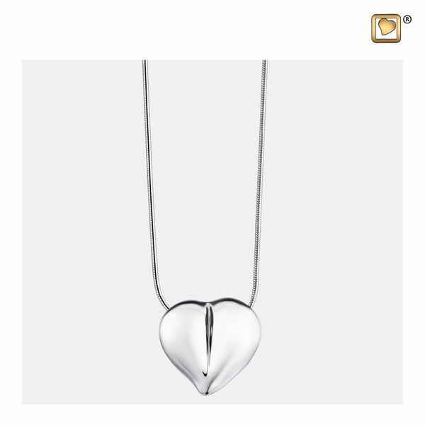 Pendant: LoveHeart - Rhodium Plated - PD1010