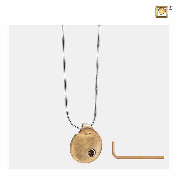 Pendant: TearDrop - Gold Vermeil Two Tone - PD1021