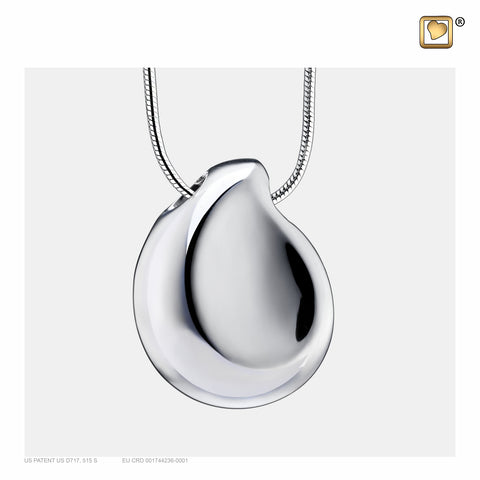 Pendant: TearDrop - Rhodium Plated - PD1022
