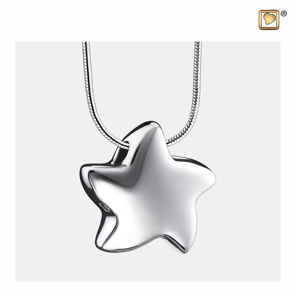 Pendant: Angelic Star - Rhodium Plated - PD1030
