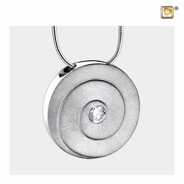 Pendant: Eternity - Rhodium Plated Two Tone w/Clear Crystal - PD1060