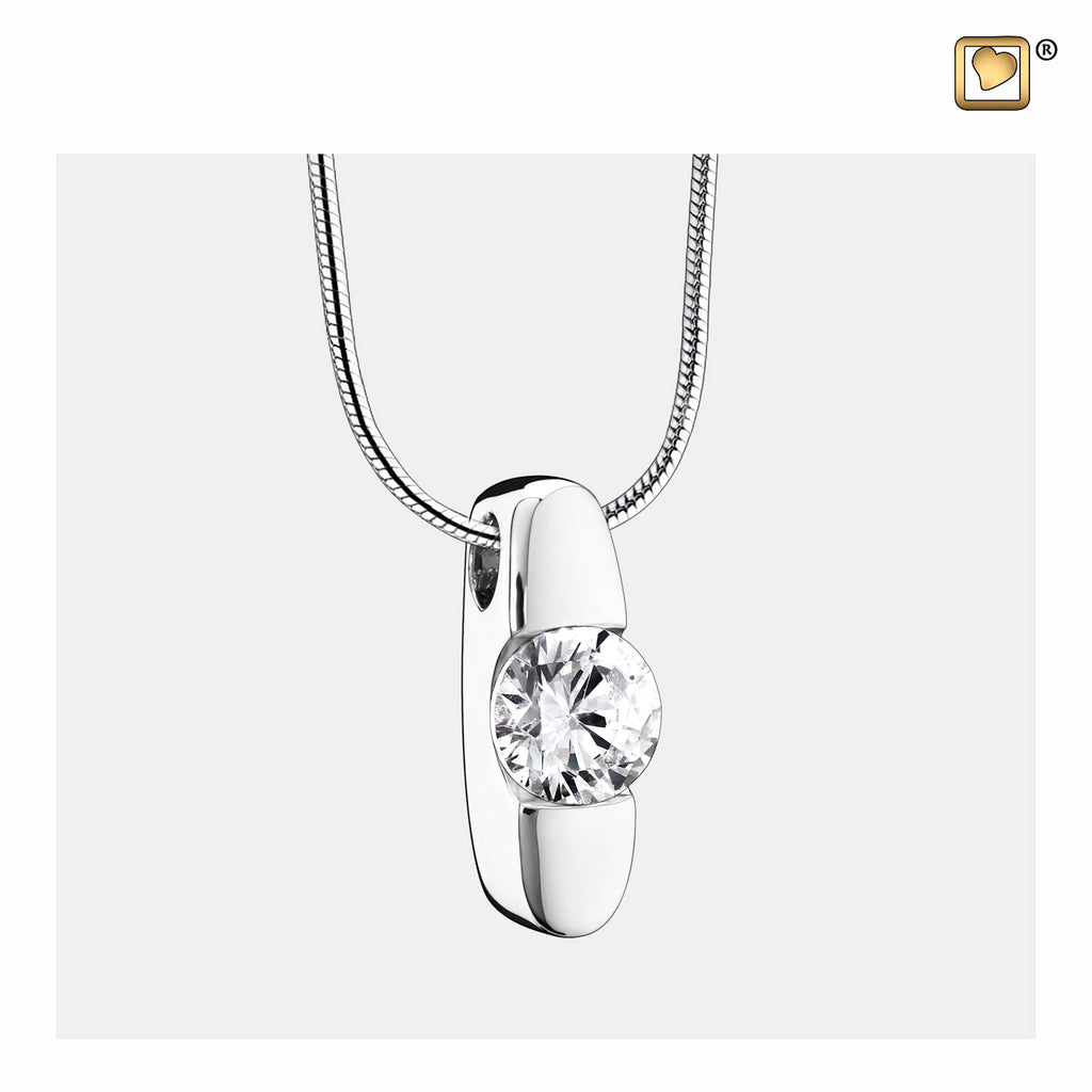 Pendant: Hope - Rhodium Plated w/Clear Crystal - PD1080