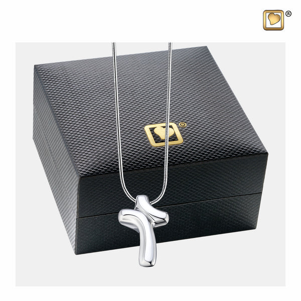 Pendant: LoveCross - Rhodium Plated - PD1132