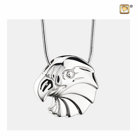 Pendant: Eagle - Rhodium Plated - PD1150
