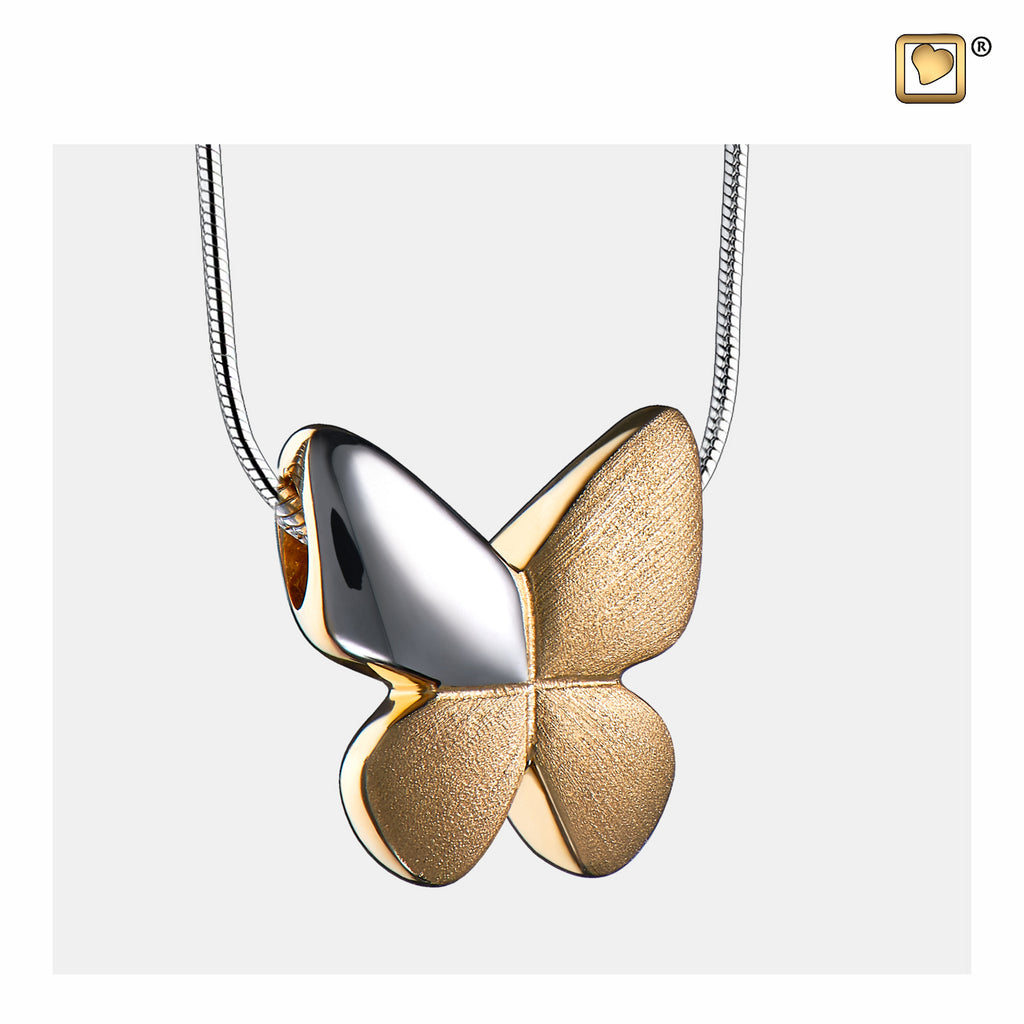 Pendant: Butterfly - Gold Vermeil Two Tone - PD1160