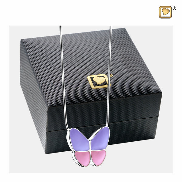 Pendant: Wings Of Hope Lavender - Enamel Rhodium Plated - PD1200