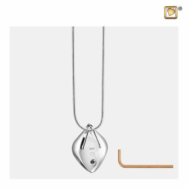 Pendant: Calla Lily - Rhodium Plated Gold Vermeil Two Tone - PD1210