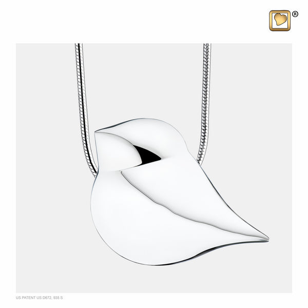 Pendant: SoulBird - Rhodium Plated - PD1280