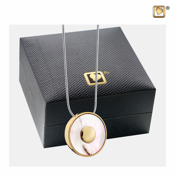 Pendant: Mother of Pearl - Gold Vermeil - PD1290