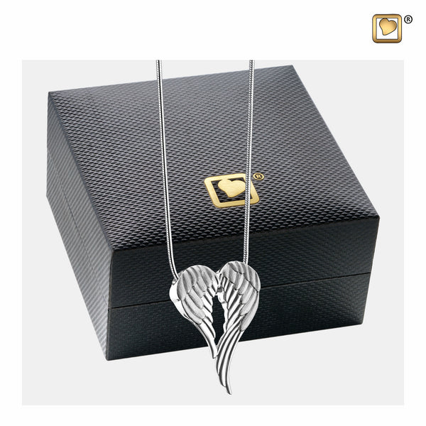 Pendant: Angel Wings - Rhodium Plated Two Tone - PD1370
