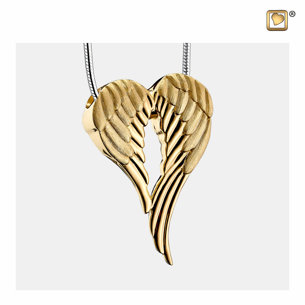 Pendant: Angel Wings - Gold Vermeil Two Tone - PD1371