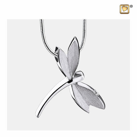 Pendant: Dragonfly - Rhodium Plated Two Tone - PD1390