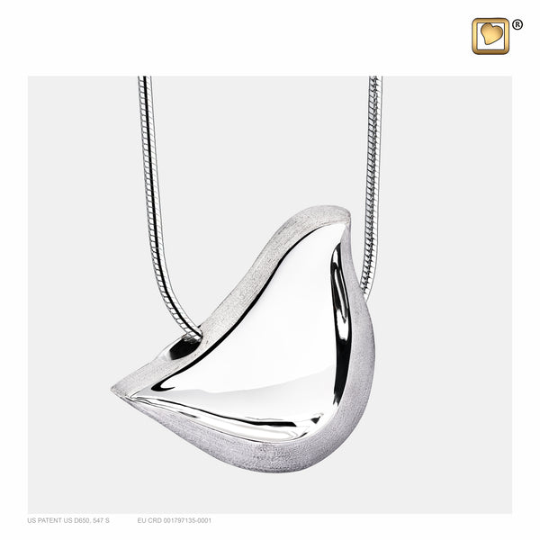 Pendant: LoveBird - Rhodium Plated Two Tone - PD1460