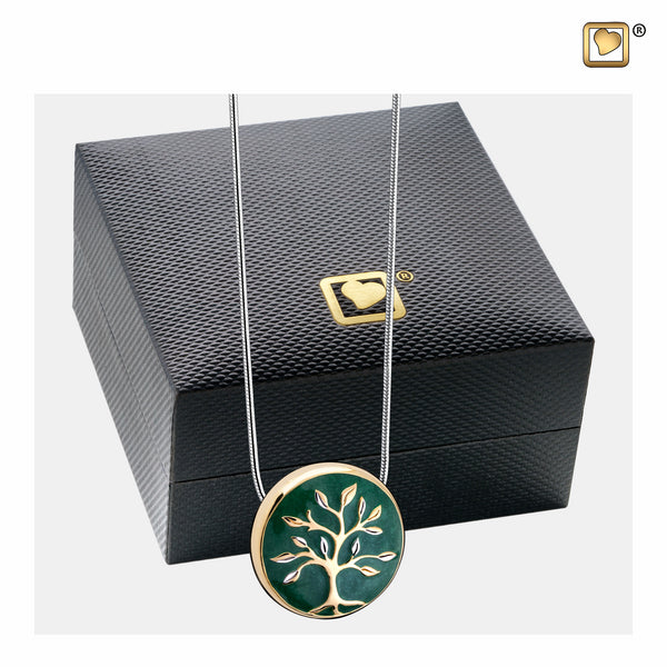 Pendant: Tree of Life - Enamel Gold Vermeil Two Tone - PD1470