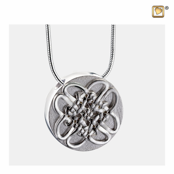 Pendant: Celtic Circle - Rhodium Plated Two Tone - PD1493