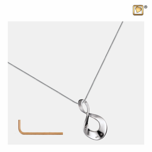 Pendant: Infinity - Rhodium Plated - PD1501