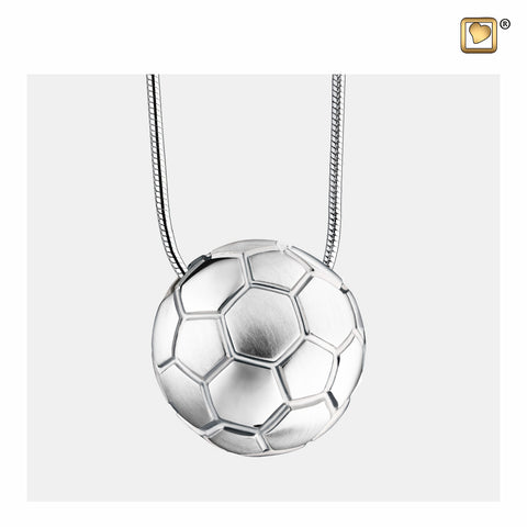 Pendant: Soccer Ball - Rhodium Plated Two Tone - PD1511