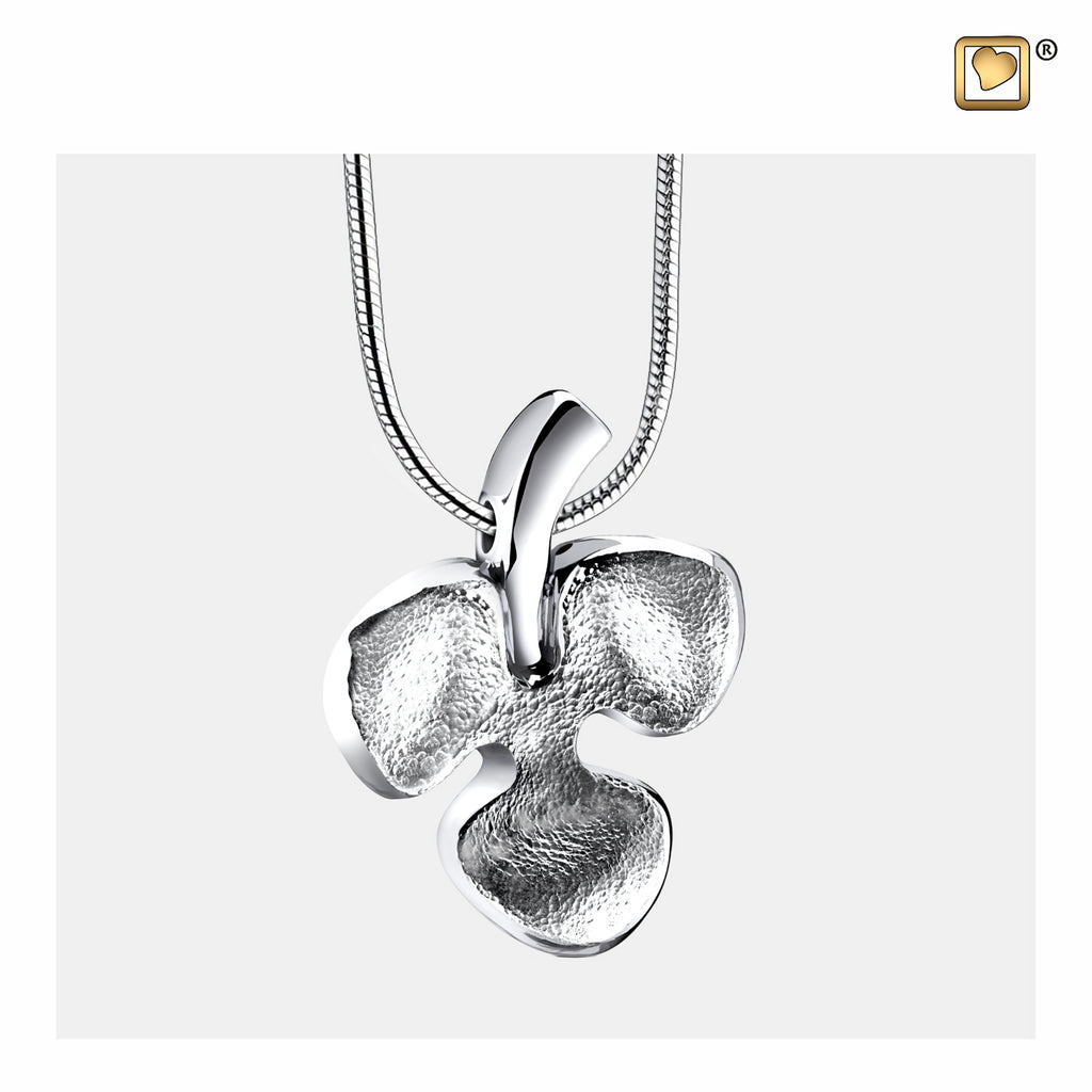 Pendant: Shamrock - Rhodium Plated Two Tone - PD1570