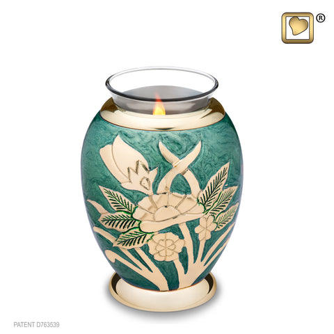 Emerald Rose (Tealight Urn) - T221