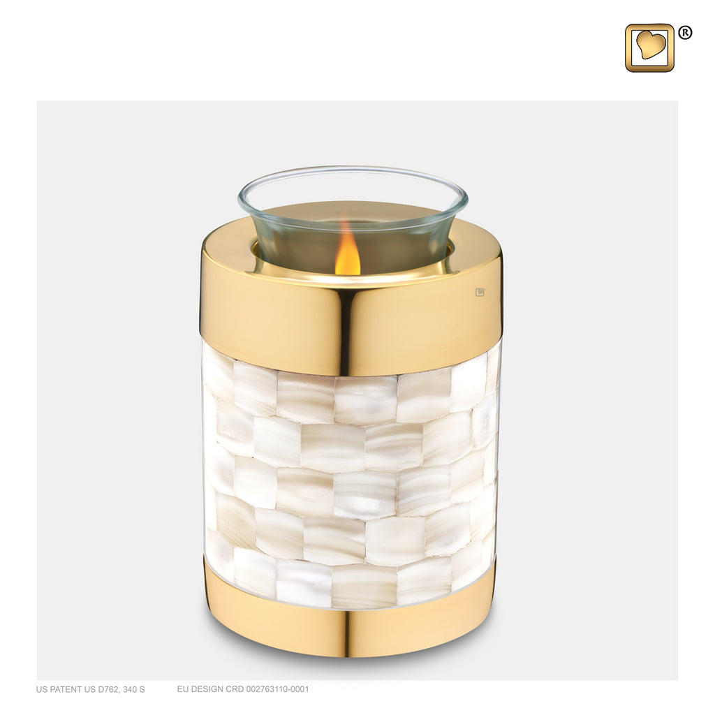 Mother of Pearl (Tealight Urn) - T230