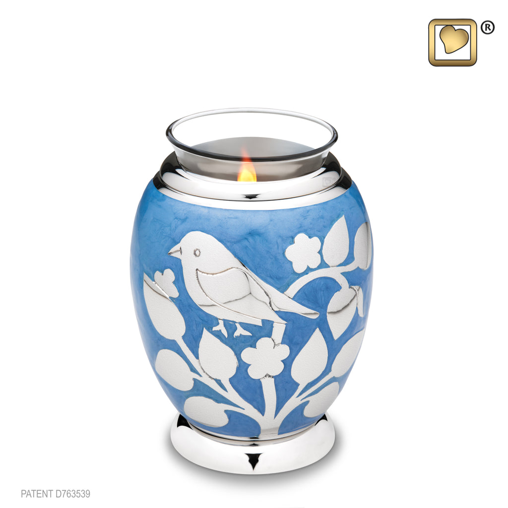 Blessing Birds Silver (Tealight Urn) - T280