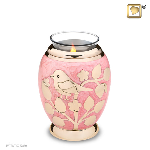 Blessing Birds Gold (Tealight Urn) - T281