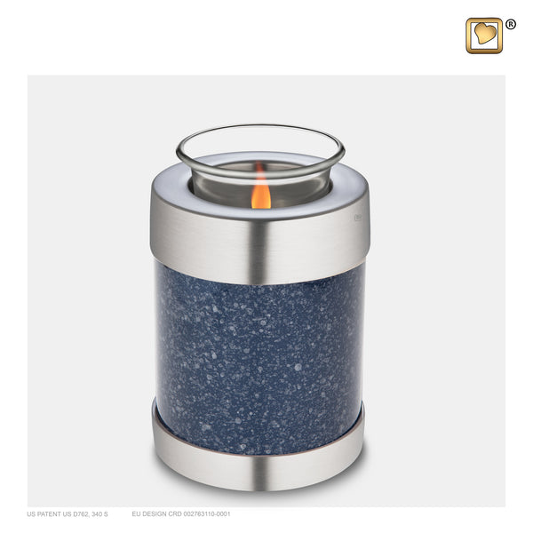 Speckled Indigo (Tealight Urn) - T663