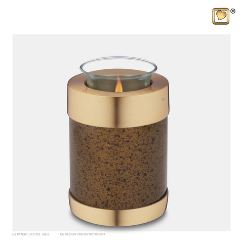 Speckled Auburn (Tealight Urn) - T664