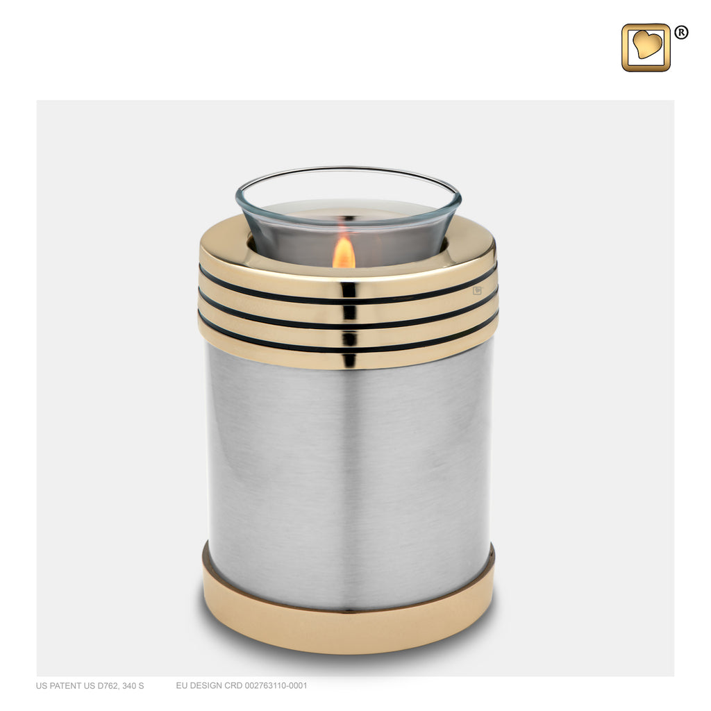 Monarch Platinum (Tealight Urn) - T665