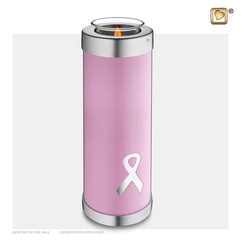 Awareness Pink Tall (Tealight Urn) - T902*