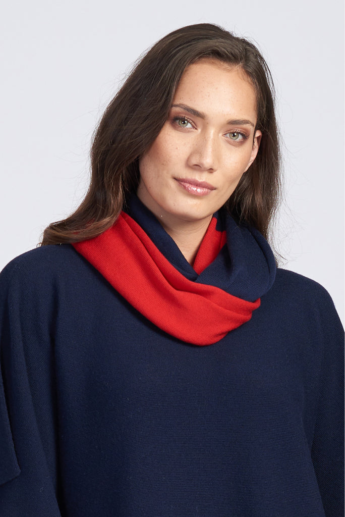 Light Navy/Red
