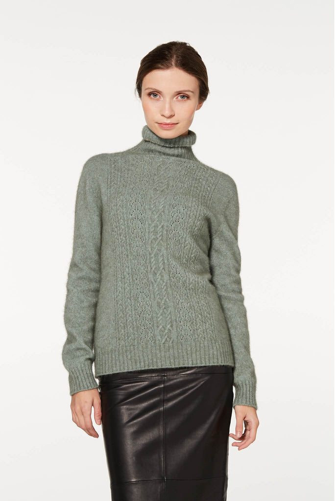 Mint Sweater, 100% New Zealand Made Merino Wool & Possum Fur Knitwear