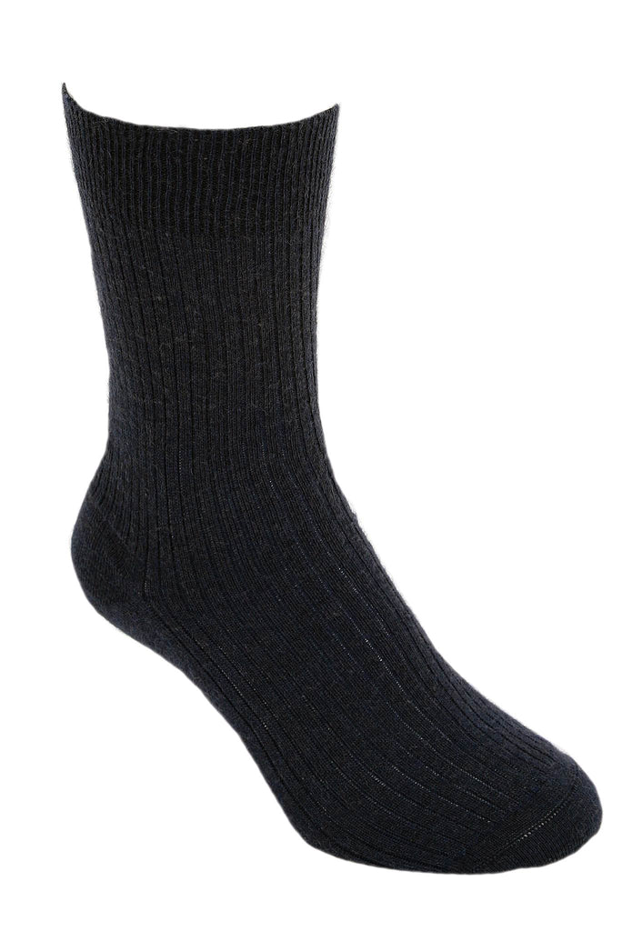 Sock in Black, 100% New Zealand Made Merino Wool Knitwear