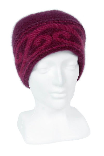 Aroha Beanie in Berry, 100% New Zealand Made Merino Wool & Possum Fur Knitwear