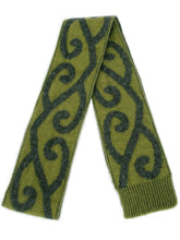 Load image into Gallery viewer, Aroha Scarf in Olive, 100% New Zealand Made Merino Wool & Possum Fur Knitwear