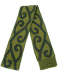 Aroha Scarf in Olive, 100% New Zealand Made Merino Wool & Possum Fur Knitwear
