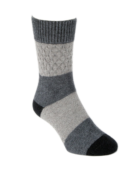 Merino Wool & Possum Sock in Silver