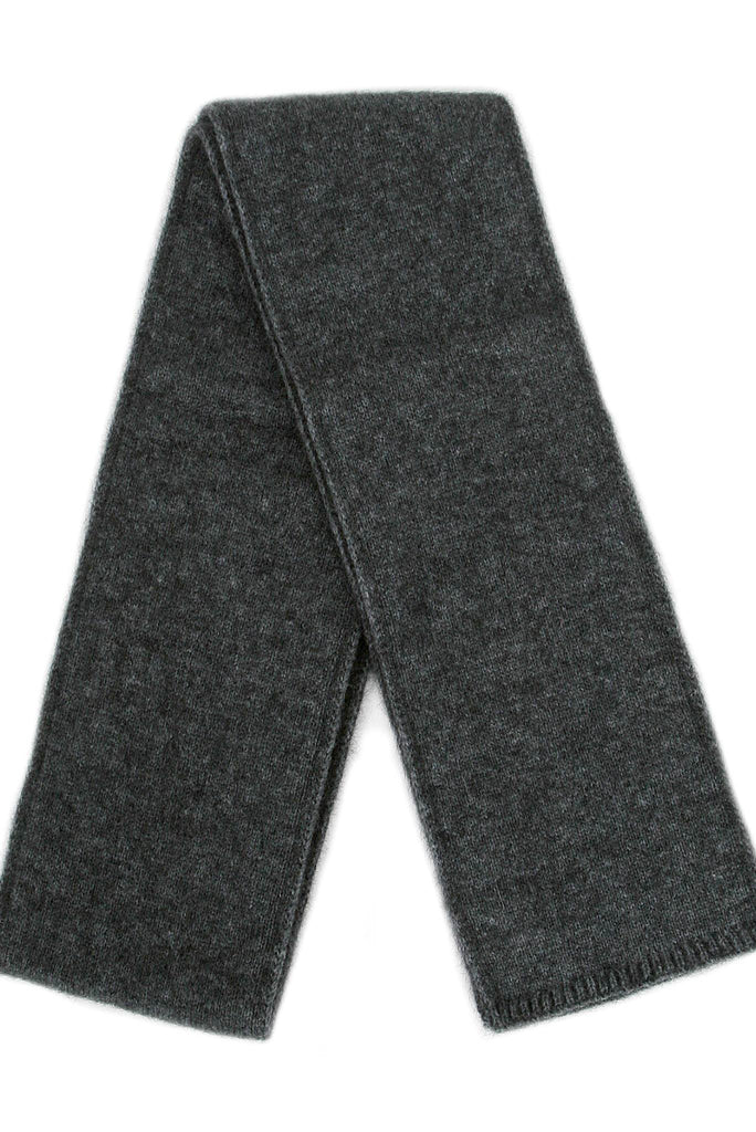 Scarf in Charcoal, 100% New Zealand Made Merino Wool & Possum Fur Knitwear