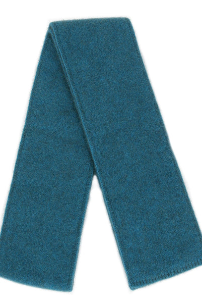 Scarf in Teal, 100% New Zealand Made Merino Wool & Possum Fur Knitwear