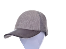 Load image into Gallery viewer, McDonald Contrast Leather Peak Cap
