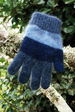Load image into Gallery viewer, Lothlorian - Child's Stripe Glove in Merino Wool and Possum Fur