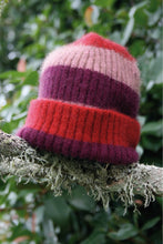 Load image into Gallery viewer, Lothlorian - Child's Stripe Rib Beanie in Merino Wool and Possum Fur