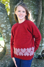 Load image into Gallery viewer, Lothlorian - Girl's Heart Jersey in Merino Wool and Possum Fur