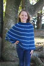 Load image into Gallery viewer, Lothlorian - Girl's Poncho in Merino Wool and Possum Fur