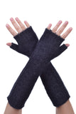 Fingerless gloves in Charcoal, 100% New Zealand Made Possum Fur & Merino Wool Knitwear