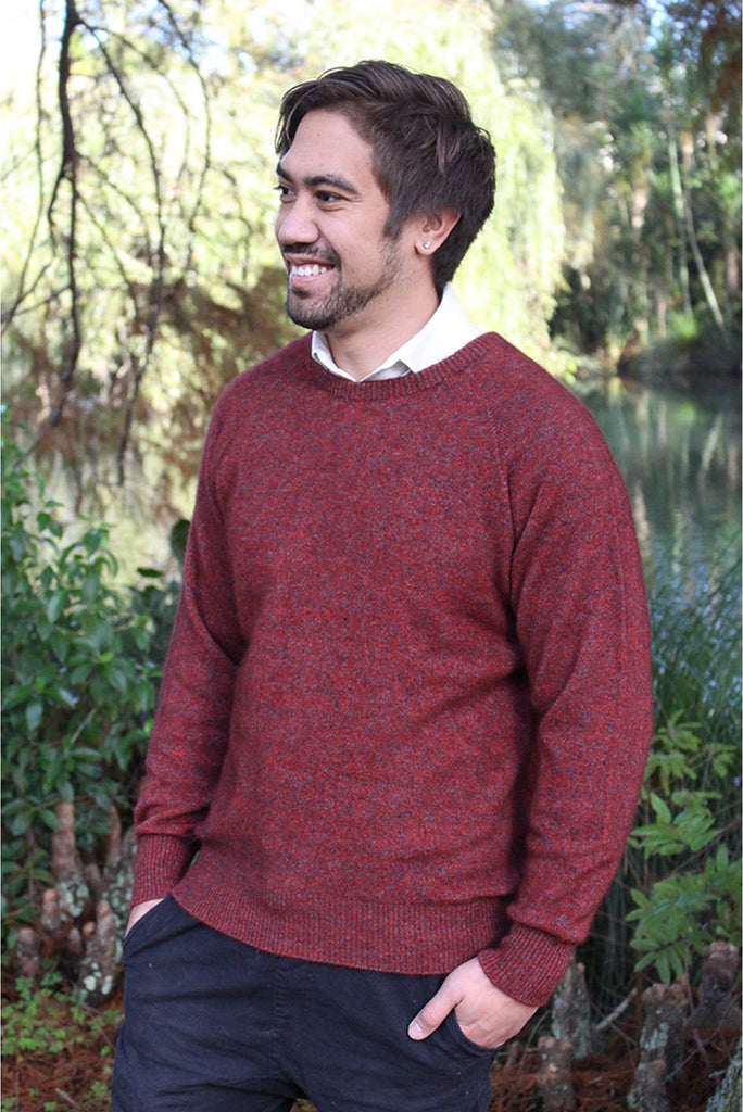 Lothlorian - Crew Neck Sweater in Merino Wool and Possum Fur